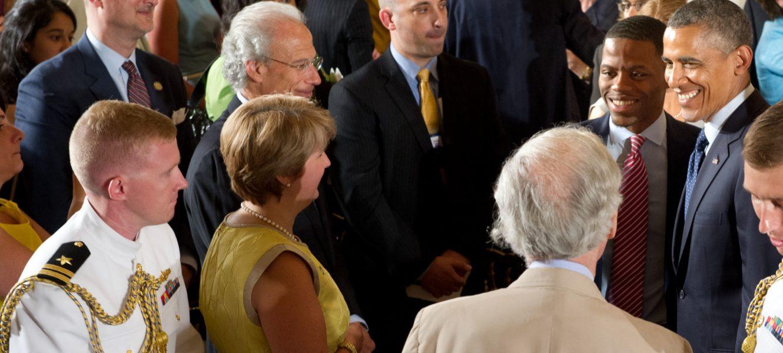 Resolution Fellow Derrius Quarles Receives Award at The White House